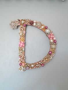 Repurposed vintage jewellery initials