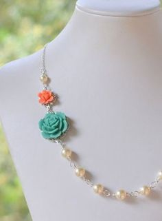 Coral and Turquoise. Loving these colors together!