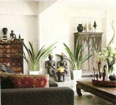 Asian Decor, house plants