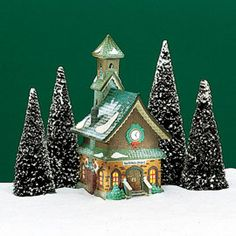 "Department 56: Products - ""North Pole Chapel"" - View Lighted Buildings"