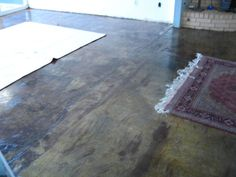 good explanation of process & costs of stained concrete floors