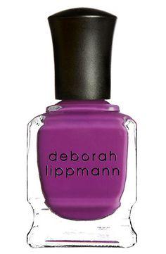 Purple nails! Deborah Lippmann Nail Color