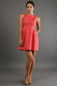 Short Jacquard in Coral - Alexia Admor - Short Jacquard in Coral   $264.00