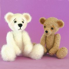 Crochet teddy bear pattern for using mohair or other fuzzy yarns