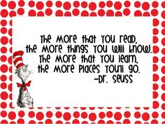 We love Dr. Seuss! I made a poster of one of my favorite motivational Dr. Seuss quotes to hang in my classroom. Enjoy!Lauren Livengood...
