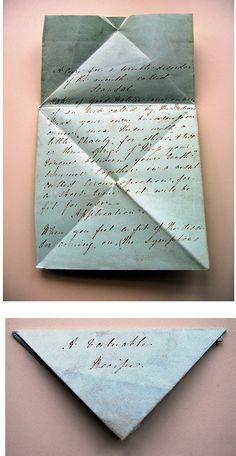 Vintage Letter Folding.