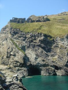 Tintagel Castle and Merlin's Cave, England