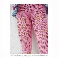 Free Crochet Girls Dress Pattern | Crochet & Craft: SUMMER-PINK FLOWER-LEGGINGS FOR FANCY LITTLE GIRLS!