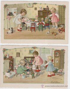 ilustradas por Pauli Ebner. Juegos de muñecas