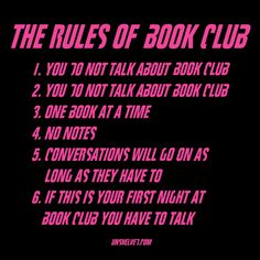 This Rules of Book Club