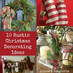 pinterest decorating ideas | Lilacs and Longhorns: 10 Rustic Christmas Decorating Ideas