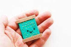 DIY Needle Threader by wildolive, via Flickr