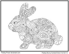 Paisley-Power Bunny by Quaddles-Roost.deviantart.com on @deviantART