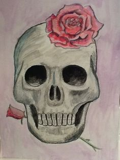 Skull with Rose ~ a fantastic guest pin :)
