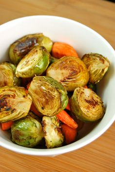 Balsamic Roasted Carrots and Brussels Sprouts