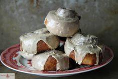 nutella rolls with coffee glaze
