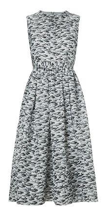 Pelt Print Silk Dress