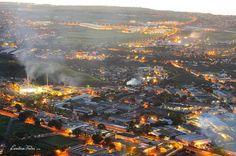 Aerial view of Port-Louis, Mauritius