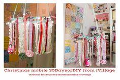 iVillage 30 Days of DIYs - Heart Handmade christma diy, ivillag 30, handmad heart, diy craft, merri christma, heart mobil