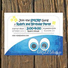 Smurf Birthday Invitation