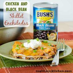 Chicken and Black Bean Skillet Enchiladas | Real Mom Kitchen