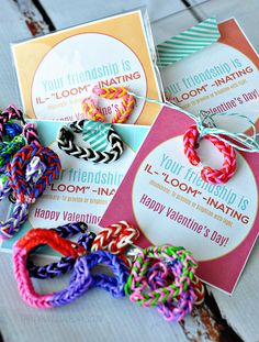 Your Friendship is Illuminating! Fun Valentine's Day idea using loom bracelets with free printable  www.thirtyhandmadedays.com