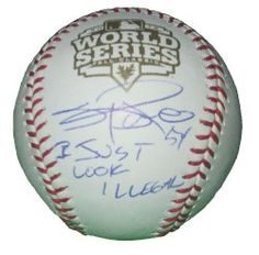 "SOLD OUT! #Sergio #Romo #Autographed 2012 #WorldSeries #Baseball Featuring ""I Just Look Illegal"" Inscription with Proof Photo of Signing! #SFGiants #SanFranciscoGiants #SF #SanFrancisco #Giants #Gigantes #MLB #Signed #Ball #Free #Shipping Click Here for more San Francisco Giants #Collectibles: http://www.southwestconnection-memorabilia.com/category/74291536201/1/SAN-FRANCISCO-GIANTS.htm"