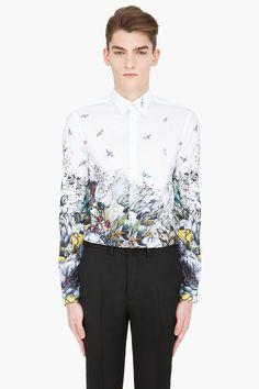 MCQ ALEXANDER MCQUEEN white Oversized Floral button-down Shirt