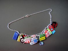 """Bing Necklace 1"" of Recycled Aluminum Cans ~ 2 of 2 photos"