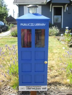 "Jacob Nanfito. Everett, WA. Little Free Library - ""In An Exciting Adventure""  A TARDIS shaped, Doctor Who themed Library. Our goal is to share some exciting adventures in time and space (and have some fun) via the magic of reading."
