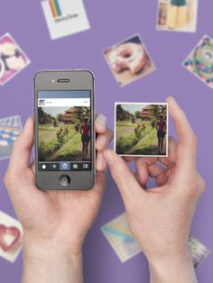Turns your Instagrams into magnets :)