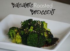 Balsalmic Roasted Broccoli recipe from one of my fave blogs, The Farm Girl