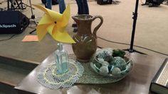 Summer communion table decor 2014