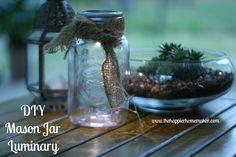 Use a mason jar to create an inexpensive, environmentally friendly luminary.