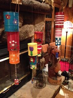 My Grandkids Tin Can Wind Chimes, FUN!