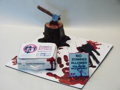 Zombie themed cake  #horror #cake #halloween
