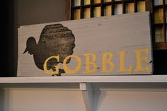 Letterpress tray and turkey sign by newlywoodwards, via Flickr
