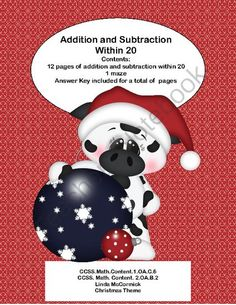 Math Addition & Subtraction Within 20 Worksheets Christmas Fun from Mrs. Mc's Shop on TeachersNotebook.com -  (27 pages)  - This is a fun way to practice the basic math facts and build fluency. This collection can be used as morning work or as a companion to your math program.  CCSS.Math.Content.1.OA.C.6 CCSS.Math.Content.