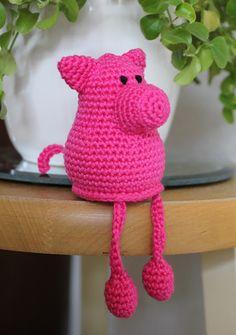 Varkentje haken | draadenpapier | Gratis patroon van Stip & Haak #haken #varken #crochet #pig