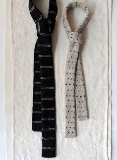 skinny knit ties