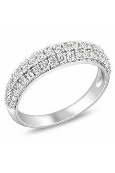 0.75 CT Diamond Fashion Ring In 10k White Gold