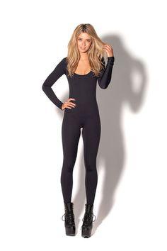 Matte Black Long Sleeve Catsuit - via Black Milk Clothing - $99 #bmnewmatteblacklscatsuit