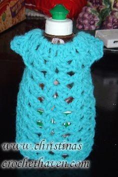 Crochet Kitchen -- Dish Bottle Aprons on Pinterest ...