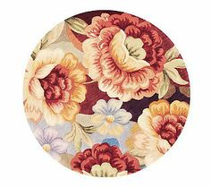 Royal Palace Watercolors Floral Dream 4 X 4 Round Wool Rug