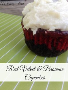 Red Velvet and Brownie Cupcakes look amazing but are so easy to make!