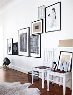 picture wall, floors + rug