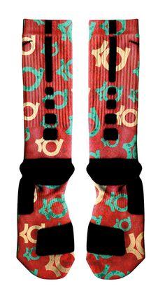 """KD VI 6 """"Christmas"""" Custom Nike Elite Socks – ILL SOCKS - NIKE ..."""