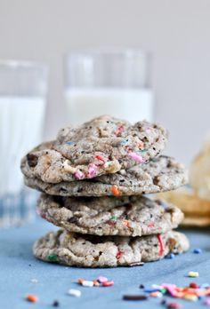 Crazy Confetti Compost Cookies | howsweeteats.com