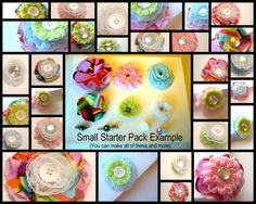 Fabric flowers , fabric flowers, and more fabric flowers