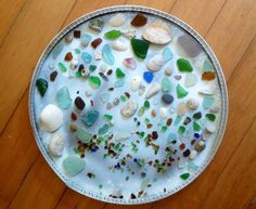 Tips for finding sea glass and craft ideas for sea glass uses.